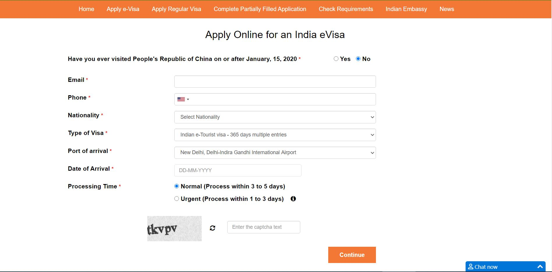 apply online for an India evisa